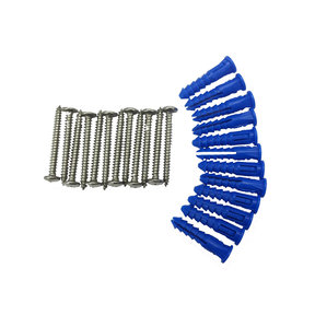 12 Steel Screws & 12 Plastic Wall Anchors for Mounting Steel Pegboard System