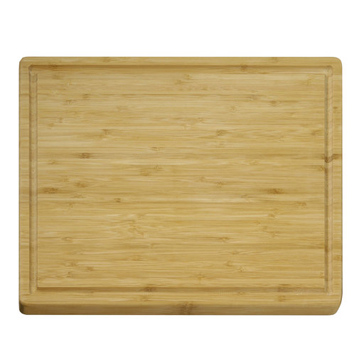View a Larger Image of 12 X 15 inch X 3/5 inch thick Bamboo Grooved Cutting Board