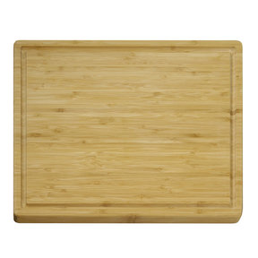 12 X 15 inch X 3/5 inch thick Bamboo Grooved Cutting Board