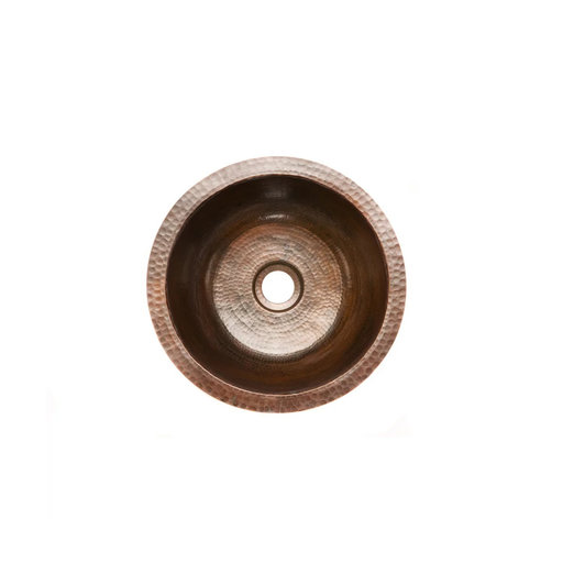 """View a Larger Image of 14"""" Round Hammered Copper Bar Sink w/ 2"""" Drain Size"""