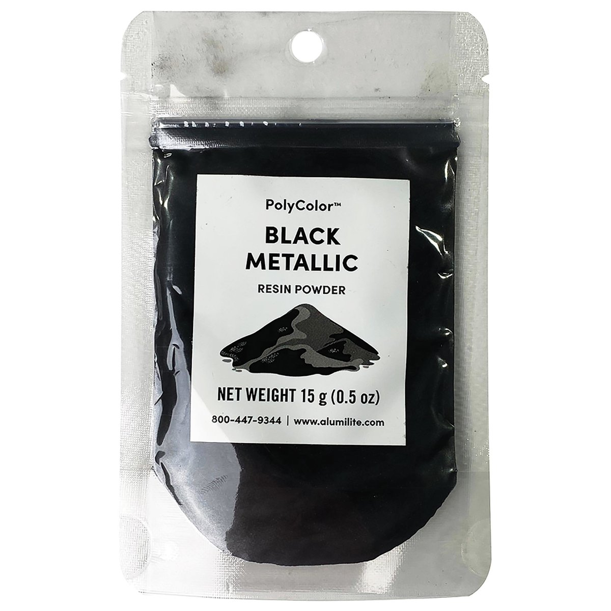 View a Larger Image of PolyColor Resin Powder 15-Gram Black Metallic