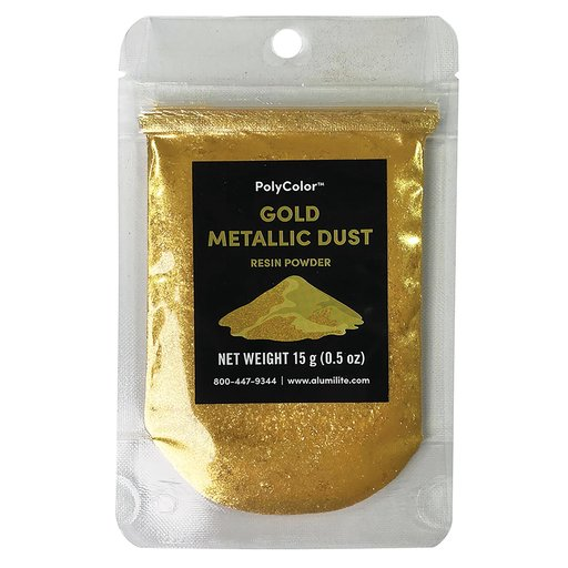 View a Larger Image of PolyColor Resin Powder 15-Gram Gold Metallic Dust
