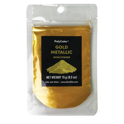 View a Larger Image of PolyColor Resin Powder Gold Metallic 15-Gram
