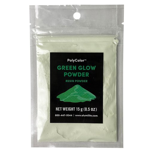 View a Larger Image of PolyColor Resin Powder Green Glow 15-Gram
