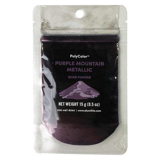 View a Larger Image of 15 gram Purple Mountain Metallic PolyColor Resin Powder