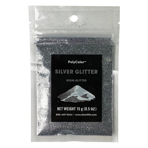 View a Larger Image of PolyColor Resin Glitter Silver 15-Gram