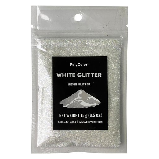 View a Larger Image of 15 gram White PolyColor Resin Glitter
