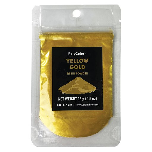 View a Larger Image of PolyColor Resin Powder Yellow Gold 15-Gram