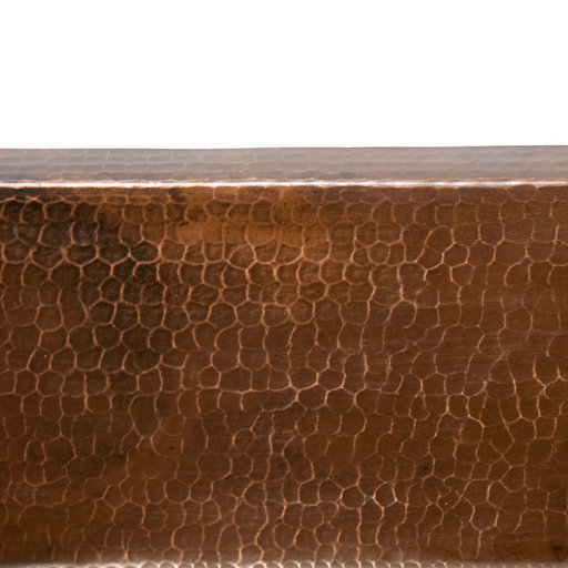 """View a Larger Image of 15"""" Square Hammered Copper Bar/Prep Sink w/ 3.5"""" Drain Size"""