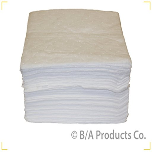 """View a Larger Image of 15""""x18"""" White Oil Absorbant Pads: Case of 100"""