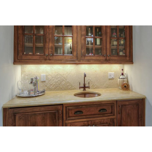 """View a Larger Image of 16"""" Round Hammered Copper Bar Sink w/ 2"""" Drain Size"""
