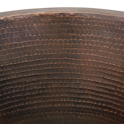 """View a Larger Image of 16"""" Round Hammered Copper Prep Sink w/ 3.5"""" Drain Size"""