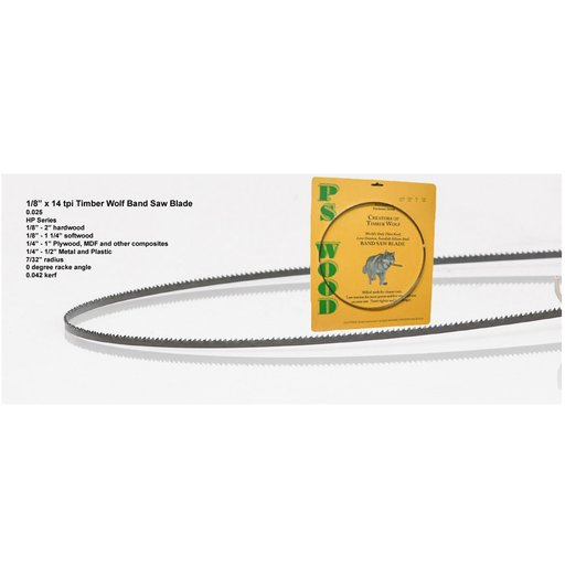 """View a Larger Image of 162"""" x 1/8"""" x 14tpi x .025   Band Saw Blade"""