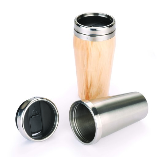 View a Larger Image of 16-oz. Stainless Steel Travel Mug Turning Kit with Screw Top Lid