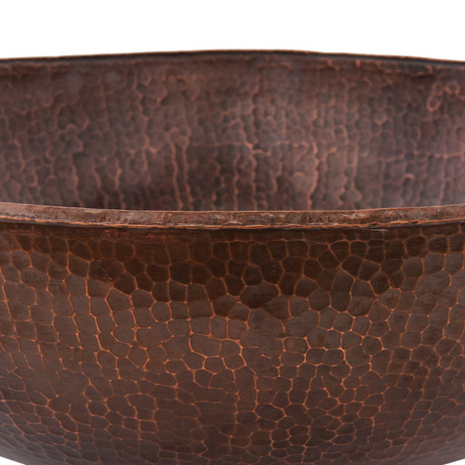 """View a Larger Image of 17"""" Large Round Vessel Hammered Copper Sink"""
