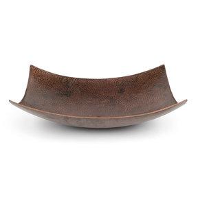 """18"""" Rectangle Modern Slope Hammered Copper Sink"""
