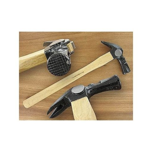 View a Larger Image of 18oz Checker Face Framing Hammer w/Wooden Handle & Magnetic Nail Holder - Dai Dogyu