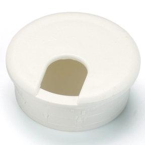 """2-1/2"""" Cable Management Plastic Grommet White"""