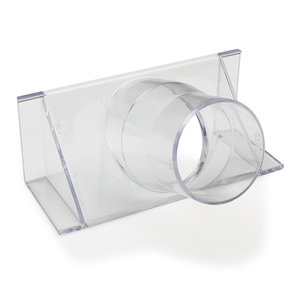 """2-1/2"""" Clear Fence Adapter Dust Collection Fitting"""
