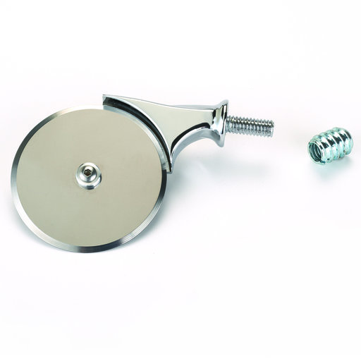 """View a Larger Image of 2 1/2"""" Miniature Pizza Cutter Turning Kit Chrome"""