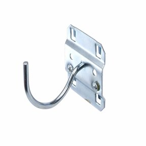 2-1/4 In. Curved 2 In. I.D. Steel Pegboard Hook for LocBoard, 5 Pack