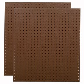 (2) 24 In. W x 48 In. H x 1/4 In. D Heavy Duty Brown Commercial Grade Tempered Round Hole Pegboards
