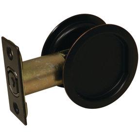 "2-7/16"" (62 mm) Pocket Door Pull Round Oil-Rubbed Bronze Passage"