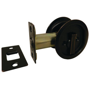"""2-7/16"""" (62 mm) Pocket Door Pull Round Oil-Rubbed Bronze Privacy"""