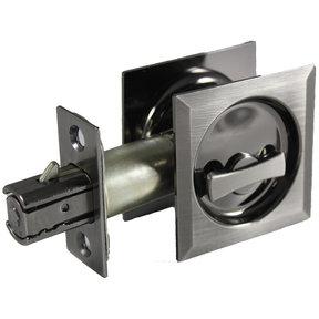 "2-7/16"" (62 mm) Pocket Door Pull Square Antique Nickel Privacy"