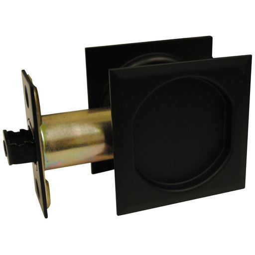 """View a Larger Image of 2-7/16"""" (62 mm) Pocket Door Pull Square Black Passage"""