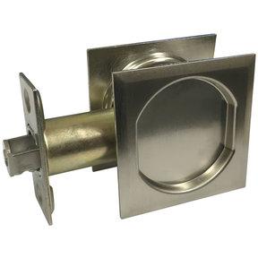 "2-7/16"" (62 mm) Pocket Door Pull Square Brushed Nickel Passage"