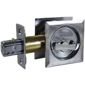 """2-7/16"""" (62 mm) Pocket Door Pull Square Chrome Privacy"""