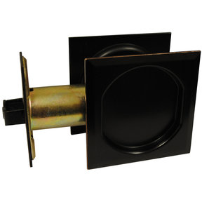 """2-7/16"""" (62 mm) Pocket Door Pull Square Oil-Rubbed Bronze Passage"""