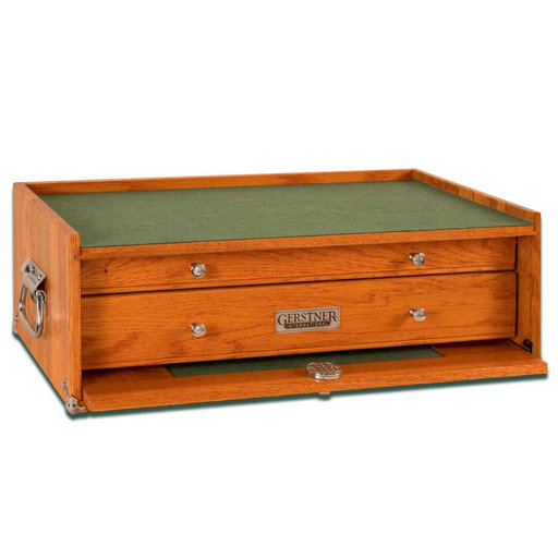 View a Larger Image of M-20 2-Drawer Mid Base, Red Oak