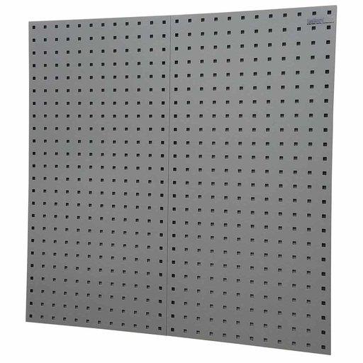 "View a Larger Image of 2-LocBoard® 18""W x 9/16""D x 36""H, 18G Steel Sq. Hole Pegbrds w/30pc LocHook® & Bin Assort - Gray"