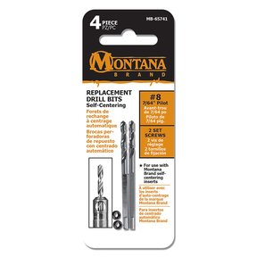 """2-Piece 7/64"""" Replacement Self-Centering Pilot Drill Bits"""