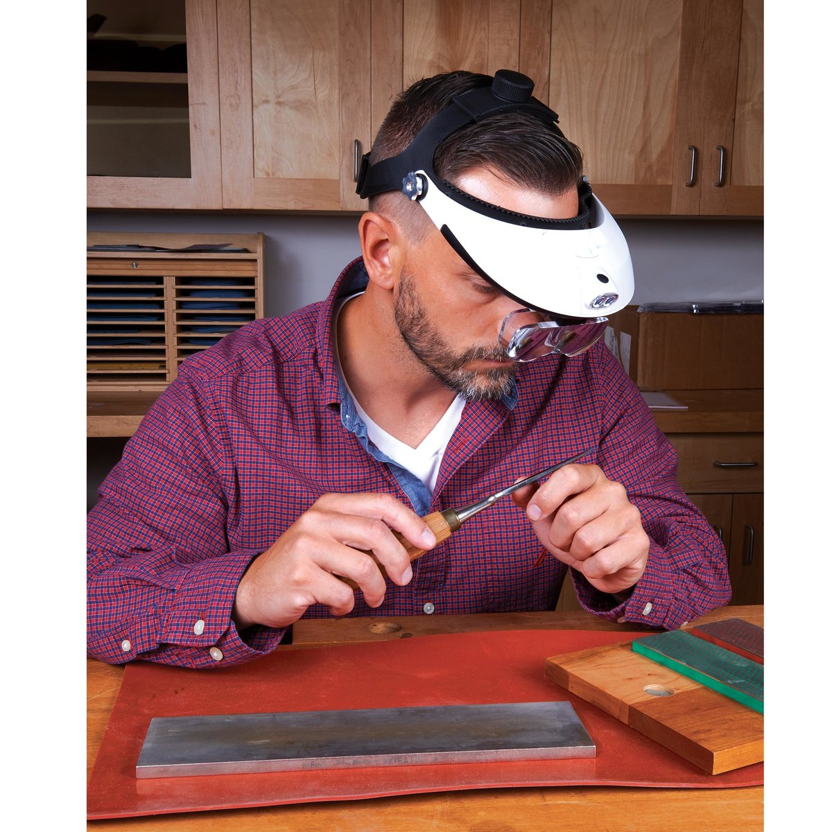 View a Larger Image of 2-Way Headband Magnifier