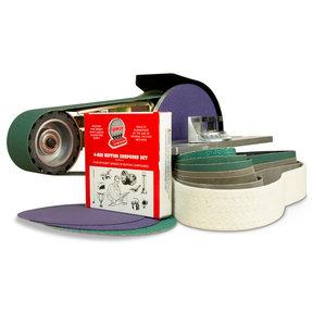 "2"" x 36"" Belt, 7"" Disc, Grinder Attachment, Miter Table, Metal Working Belt and Disc Starter Kit"