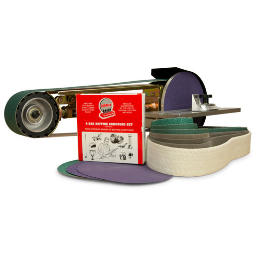 """View a Larger Image of 2"""" x 48"""" Belt, 7"""" Disc, Grinder Attachment, Miter Table, Metal Working Belt and Disc Starter Kit"""