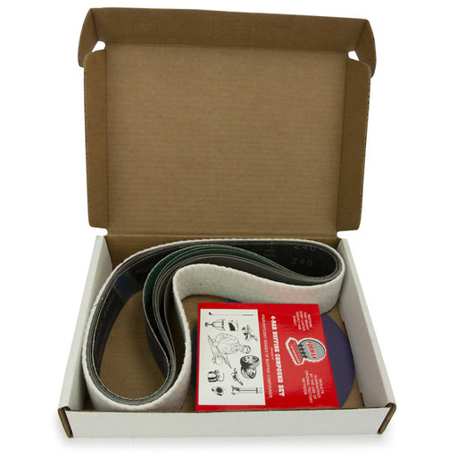 """View a Larger Image of 2"""" x 48"""" Belt, 7"""" Disc, Metal Working Belt and Disc Starter Kit"""
