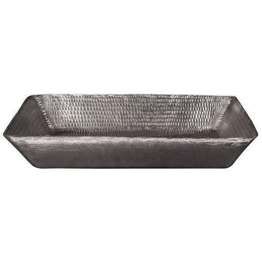 """View a Larger Image of 20"""" Rectangle Vessel Hammered Copper Sink in Nickel"""