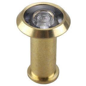 "200 Degree Door Viewer Brass 9/16"" (14.3 mm)"