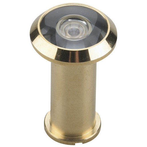 """View a Larger Image of 200 Degree Door Viewer UL Listed Brass 9/16"""" (14.3 mm)"""