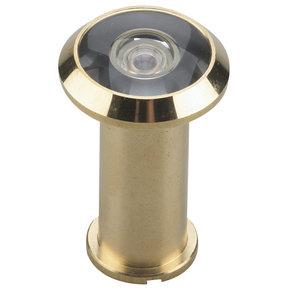"""200 Degree Door Viewer UL Listed Brass 9/16"""" (14.3 mm)"""