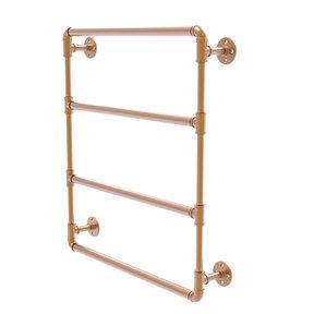 "24"" Wall Mounted Ladder Towel Bar, Brushed Bronze Finish"