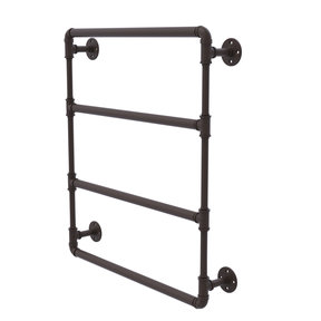 """24"""" Wall Mounted Ladder Towel Bar, Oil Rubbed Bronze Finish"""