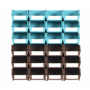 26pc. Wall Storage Unit - Teal & Brown