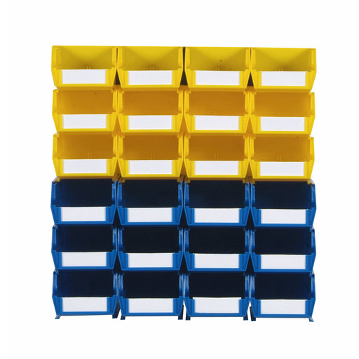 View a Larger Image of 26pc. Wall Storage Unit - Yellow & Blue