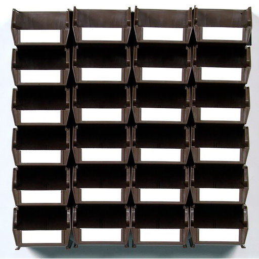 View a Larger Image of 26pc. Wall Storage Unit - Brown
