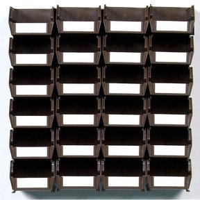 26pc. Wall Storage Unit - Brown